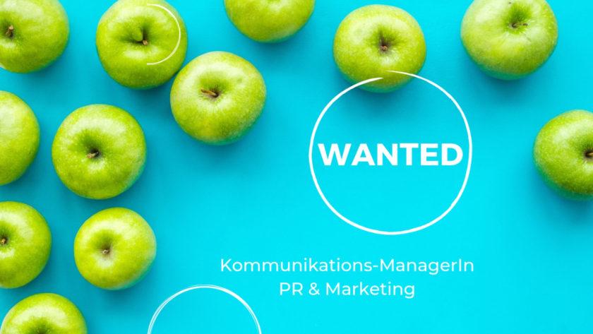 Ausschreibung Kommunikations Managerin