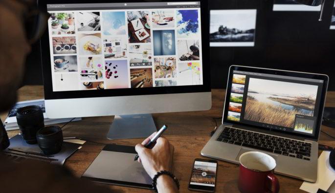 Header Für Grafikdesign & Video