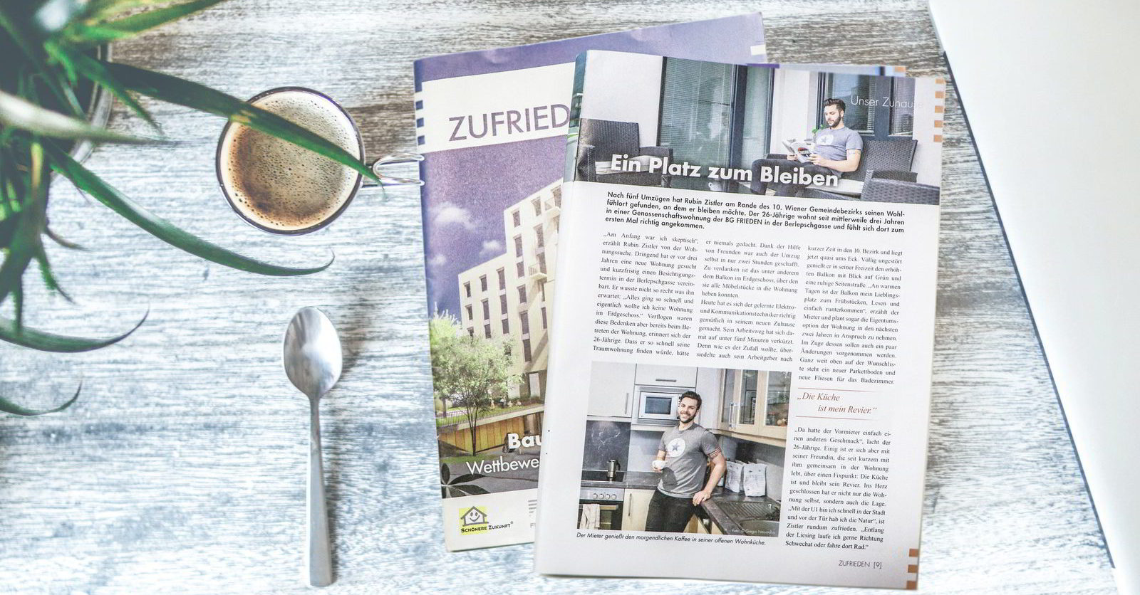 """ZUFRIEDEN"": Tenants Magazine Of The Building Cooperative FRIEDEN"