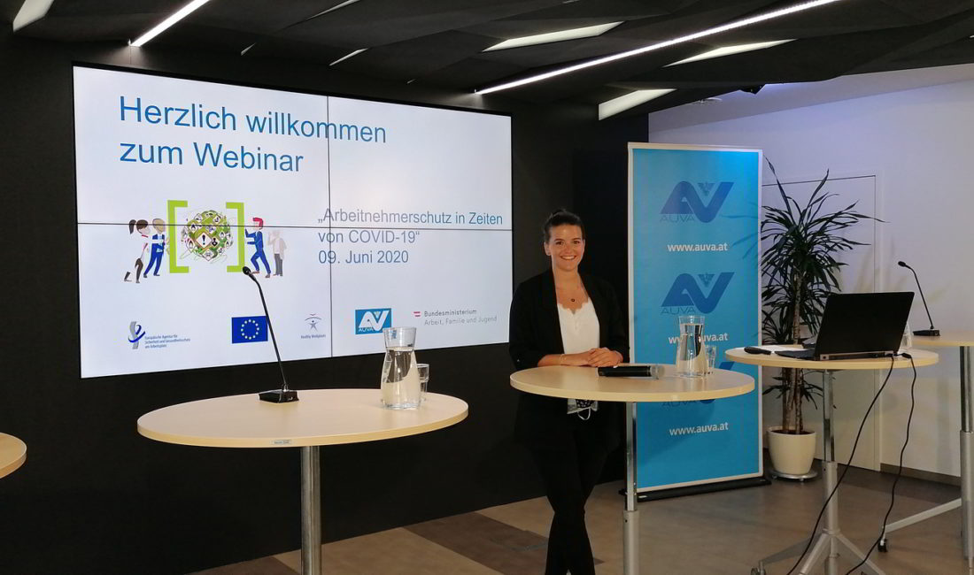 Marlies Wolf hybrid event im APA-Pressenzentrum in Wien